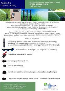 Pakke 51 PRO pop up vanding
